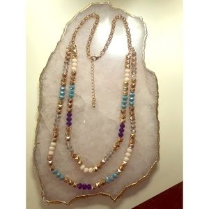 Macy's Double Strand Long Necklace